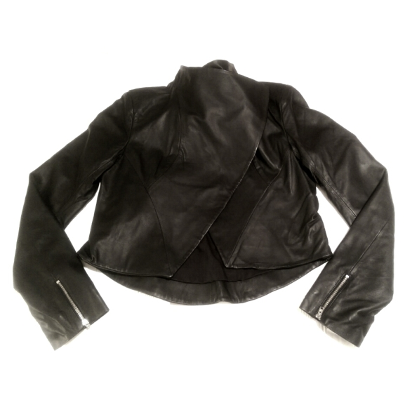 leather jacket closed